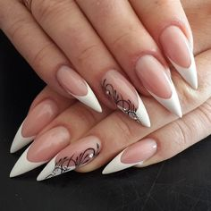 50 Top Best Wedding Nail Art Designs to Get Inspired Acrylic Nail Designs, Nail Art Designs, Wedding Day Nails, Gothic Nails, Sassy Nails, Stiletto Nail Art, French Tip Nails, Best Acrylic Nails, Dope Nails