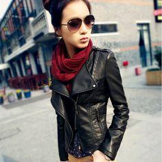 2015 Leather Jackets For Women Spring And Autumn Plus Size Women Clothing XXL Chaquetas Cuero Woman PU Motorcycle Jacket Fashion