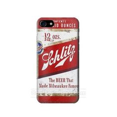 Vintage Schlitz Beer Can Best USD19.99 full wrap mobile phone case for IPHONE 7 with Free Waterproof Bag Limited Time Offer