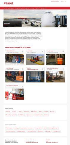 DIMOS MASCHINENBAU Design & Realisation Corporate Website & Corporate Design Corporate Website, Corporate Design, Shopping, Mechanical Engineering, Branding Design, Brand Identity Design