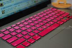 Schöne Geschenkidee - pinke Tastatur zum aufkleben