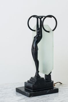 Art Deco Frankart Nude Silhouette Table Lamp Style L216 by ObjectandLight