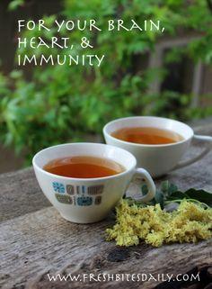 Elder flower Tea to nourish your brain, heart, and immune system | Fresh Bites Daily