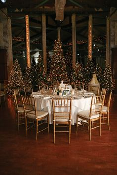 Christmas / Winter wedding at the Pond House