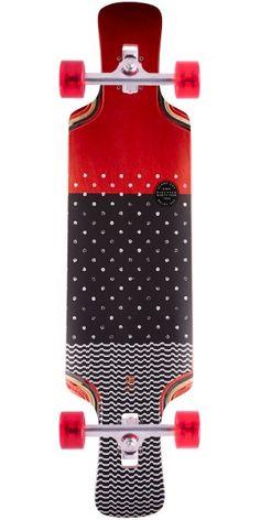 Globe Geminon Kick Longboard Complete - Red/Dot Wave