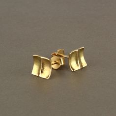 Gold square earrings gold post earrings solid gold stud earrings gold studs USD) by SigalGerson Square Earrings, Leaf Earrings, Gold Earrings, Black Hills Gold Jewelry, Black Gold Jewelry, Jade Jewelry, Gold Jewellery, Diamond Jewelry, Unique Jewelry