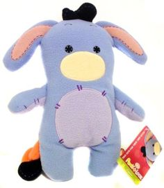 Disney Winnie the Pooh EEYORE Pook-a-Looz Stuffed Plush Fleece Doll Rare NEW