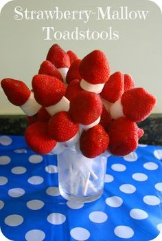 Starwnerry Mallow Toadstools (A Room On The Broom Birthday Party Food) Mummy Mishaps