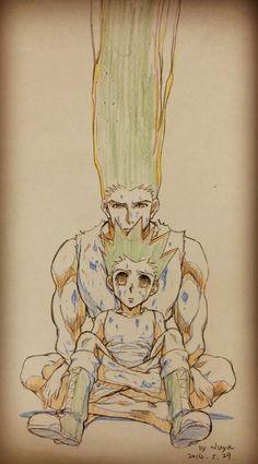 Gon San and Gon Kun - Imgur This is so creepy but so sad as well ;-;