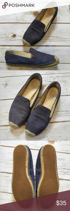 Vince Camuto Driston Blue Snake Pattern Espadrille Vince Camuto Driston Blue Snake Pattern Slip On Espadrille Flats  Size 7.5 in good used condition. Please feel free to ask any questions or bundle with other listings in my closet for a custom discount on your order. I ship the same day as long as the order is placed before 11:00 AM Central time. If you would like to be notified about price drops remember to 'like' the item to bookmark it! Thank you for checking out my closet and happy…