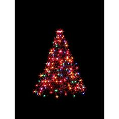 3 Ft. Indoor/Outdoor Pre Lit Incandescent Artificial Christmas Tree With  Green Frame And 200 Multi Color Lights *** More Details @ | Pinterest |  Indoor ...