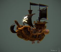 AllyAlbon_381_Pirate_Ship4_Low_Poly_WIP