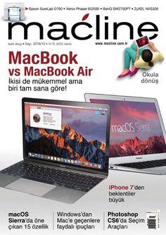 Macbook, MacBook Air karşı karşıya, Photoshop dersleri, Windows'tan Mac'e geçenlere ipuçları... Macline Eylül sayısını kaçırmayın...