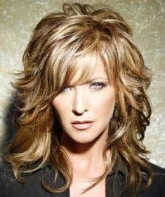 image, detail, geous, medium, length, hairstyles, women, over