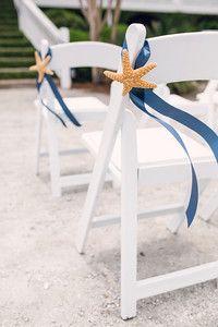 Starfish & Navy Ribbon
