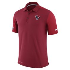 Nike Dry Team Issue (NFL Texans) Men's Polo Shirt Size Medium (Red) - Clearance Sale