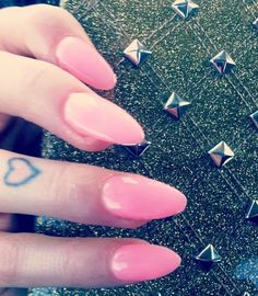Pink sharp nails