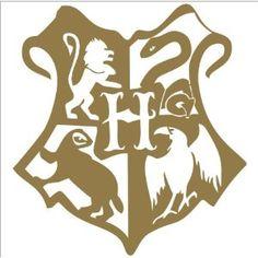 """Harry Potter Hogwarts Crest Vinyl Die Cut Decal Sticker 5"""" Gold"""