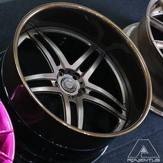 Adventus Forged SFR V4 wheels brown. split 5 star deep lip wheel, not str