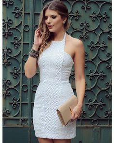 Little White Dress Elegant Dresses, Pretty Dresses, Beautiful Dresses, Casual Dresses, Short Dresses, Lace Dress, Dress Up, White Dress, Bodycon Dress