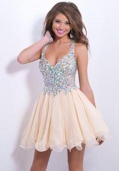 Blush Dresses 9857 at Peaches Boutique