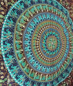 Hippie Wall Tapestries Mandala Wall Hanging Indian Tapestry Blue Tapestry Decor