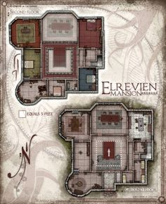 The Elrevien Mansion, a home for the well to do! Originally a map for Dungeons and Dragons, but also excellent for other adventuring as well! This ...