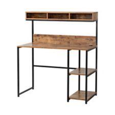 Ideas reclaimed wood desk top shelves for 2019 Iron Furniture, Steel Furniture, Industrial Furniture, Furniture Design, Furniture Stores, Furniture Dolly, Diy Wood Desk, Diy Desk, Desk Hutch