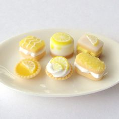 Lipsmackin' Lemon Cake Selection ceramic plate by MerciaMiniatures