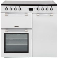 Leisure Cookmaster Electric Range Cooker with Ceramic Hob - Silver - A/A Rated Kitchen Cabinet Organization, Kitchen Cabinets, Kitchen Appliances, Electric Range Cookers, Discount Appliances, Domestic Appliances, New Kitchen