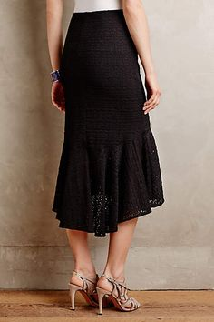 Flared Lace Midi Skirt - anthropologie.com