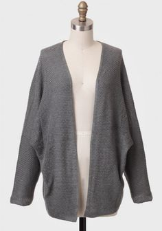 North Bend Open Knit Cardigan In Gray | Modern Vintage Outerwear | Modern Vintage Clothing
