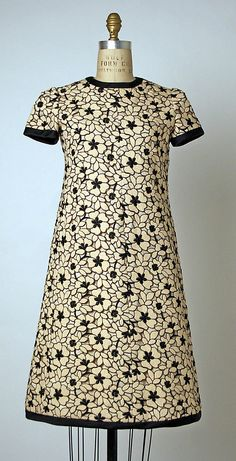 Dress  André Courrèges  (French, born 1923)  Date: ca. 1965 Culture: French Medium: wool