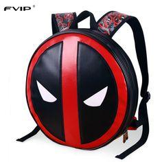 FVIP 2017 Новый дизайн 3D Marvel Mochila Masculina школьная сумка Дэдпул  рюкзак для ноутбука Ipad Рюкзаки Высокое качество кожаная сумка купить на  ... 2f1e1b7a6fc