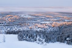 Ruka Finland winter sunrise Finland, Winter, Sunrise, Landscapes, Mountains, Nature, Travel, Outdoor, Paisajes