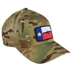 A camouflage hat featuring the Texas flag overlaid with an SBR. With BRCC's recent move to the Lone Star State, it seemed appropriate to mark the occasion. *This is a Flexfit hat Uss San Diego, Black Rifle Coffee Company, Texas Flags, Cool Hats, Good Company, Camouflage, Baseball Hats, Coffee Stations, Men Stuff