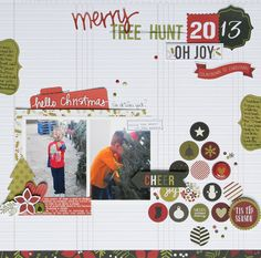Tree Hunt 2013 - Scrapbook.com - Made with Simple Stories DIY Collection.