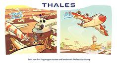 Zwei von drei Flugzeugen starten und landen mit Thales Ausrüstung.