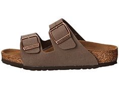 - You can never go wrong with a classic Birkenstock® sandal. - Birko-Flor™ upper is made of acrylic and polyamide felt fibers to create a soft fabric with a leather-like finish. - Two buckle closure e