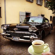 What a beauty!  #instagood #instadaily #instacoffee #chevrolet #oldtimer #car #black #beautiful #hattersheim #coffee #photooftheday #picoftheday #kaffee #auto #fotodestages