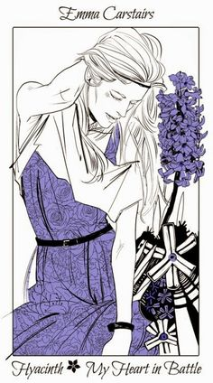 Emma Carstairs ~ The Dark Artifices flower cards by Cassandra Jean