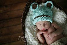 Crochet Baby Hat Baby Bear Hat Baby Boy Hat Baby by Monarchdancer
