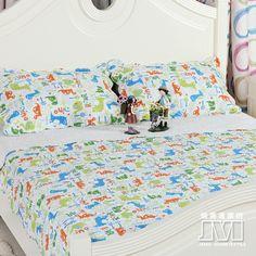 Little Dinosaur White Dinosaur Bedding Set Dinosaur Bedding, Set Cover, Quilt Sets, Cartoon Styles, Bedding Sets, Adventure, Blanket, Pattern, Kids