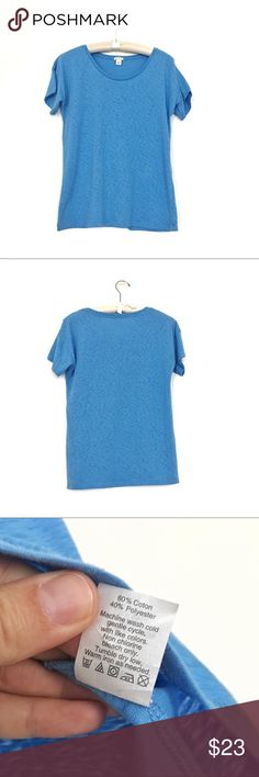 J Crew marled cotton tee Excellent condition loose fit baby blue cotton tee J. Crew Tops