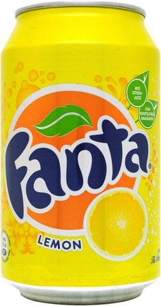 Lemon Fanta: they had these everywhere in Europe, along with the Orange, but it tastes so much better over there!