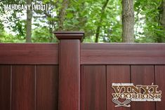 Totally lifelike Mahogany Vinyl Fence by @illusionsfence . What a great backyard idea! #backyard #ideas #illusionsfence