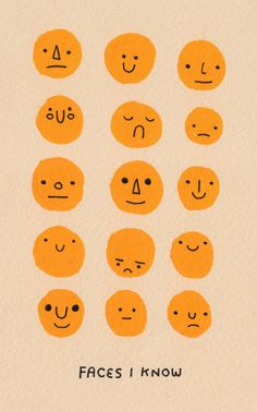 Emoticonos, cares expressió facial - Faces I Know