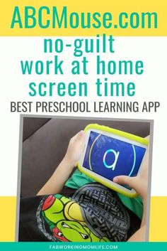 Are you looking for the best learning apps for kids? Read on to see why we love ABCMouse.com and why we think it is the best learning apps for toddlers and preschoolers. I share the benefits of abcmouse app and why my preschooler loves it. This is a no guilt screen time app that helps me work from home during this time of school closures. | Fab Working Mom Life Learning Apps For Toddlers, Educational Activities For Preschoolers, Pre Reading Activities, Teaching Activities, Preschool Learning, Screen Time App, Abc Mouse, Kindergarten Readiness, Parent Teacher Conferences