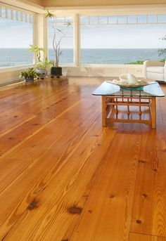 Reclaimed Heart Pine Floors. Comes from beams and floor joists out of old, mills and factories in New England. This floor can add a classic look to any environment.