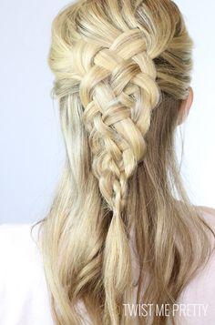 5 strand dutch style braid